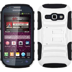 BasAcc White/ Black Case with Stand for Samsung M840 Galaxy Prevail 2