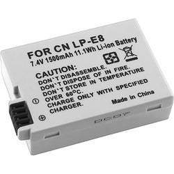 Canon LP-E8 Compatible Gray High-capacity Rechargeable Li-ion Battery