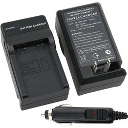 Compact Battery Charger Set for Samsung SLB-10A / 11A