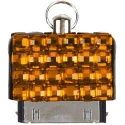 BasAcc Orange Diamante Cell Phone Charm Dust Cap