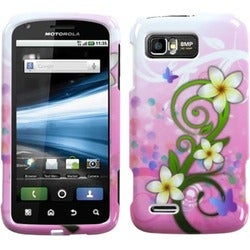 INSTEN Tropical Flowers Protector Phone Case Cover for Motorola MB865 Atrix 2