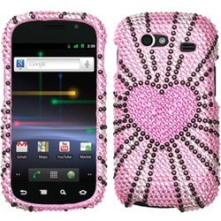 BasAcc Fervor Heart Diamante Phone Case for Samsung NXS Nexus S