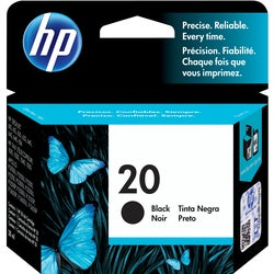 HP No. 20 Black Inkjet Print Cartridge