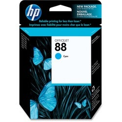 HP No. 88 Cyan Ink Cartridge with Vivera Ink For Officejet Pro K550 Series Printers
