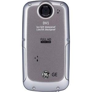 GE DV1-GG Waterproof/Shockproof 1080P Blue Digital Camcorder