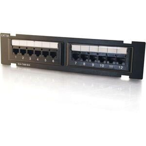 Cables To Go 12-port Cat5e Cross Connection Patch Panel
