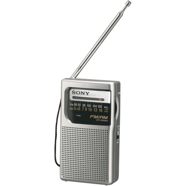 Sony Portable ICF-S10MK2 Pocket AM/FM Radio