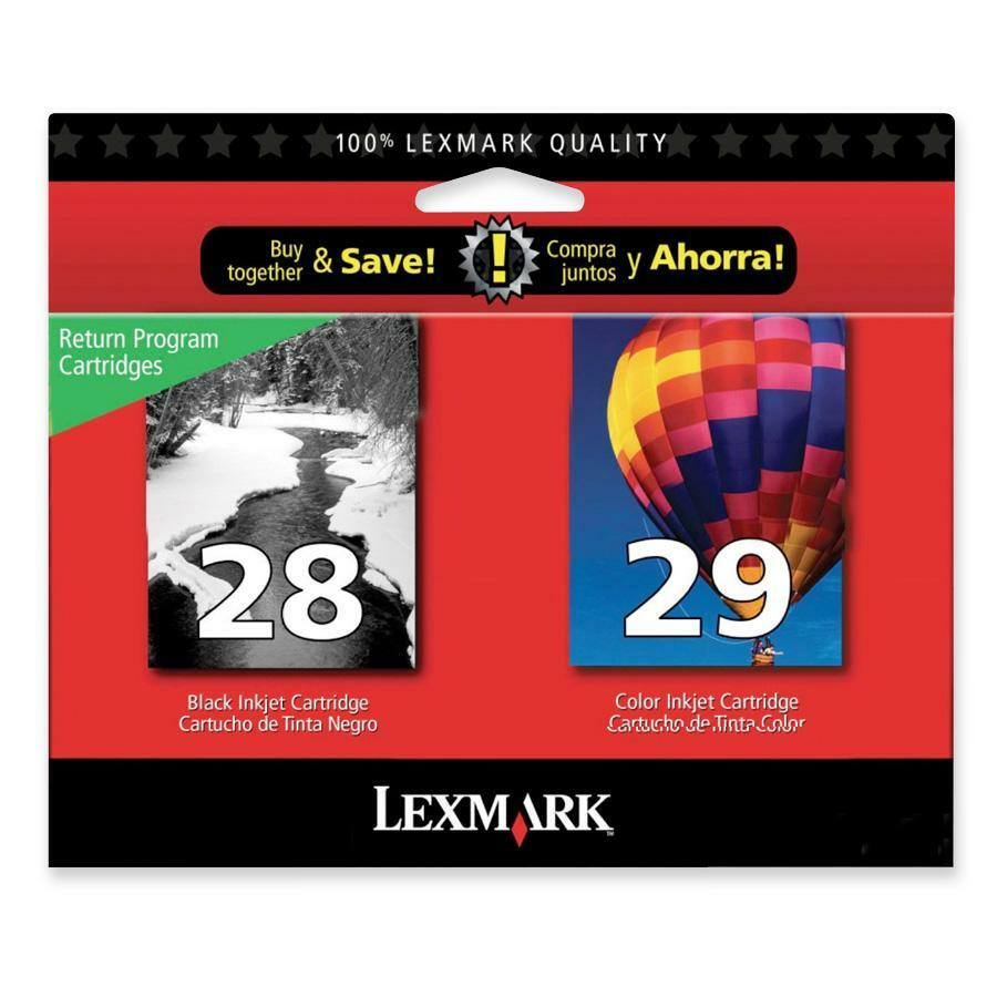 Lexmark No.28/29 Black and Color Ink Cartridge