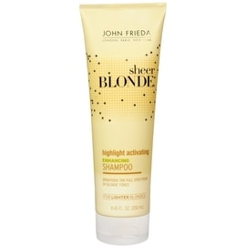 John Frieda Sheer Blonde 8.45-ounce Highlight Activating Enhancing Shampoo for Lighter Blondes