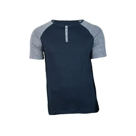 Men's Cotton short Sleeve Henley Shirt - Made in America!