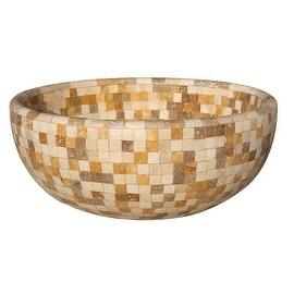 Mosaic Natural Stone Vessel Sink - Mixed Travertine