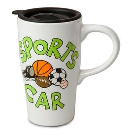 Our Name Is Mud by Lorrie Veasey Sports Car Travel Mug, 5.825-Inch
