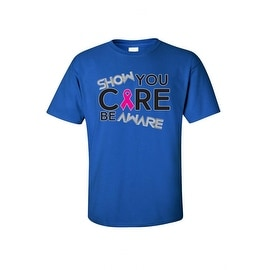 Unisex T Shirt Show You Care Be Aware Pink Breast Cancer Support Awareness Tee