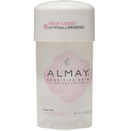 Almay Sensitive Skin Clear Gel Antiperspirant & Deodorant, Powder Fresh 2.25 oz