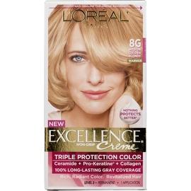 L'Oreal Paris Excellence Creme Haircolor Medium Golden Blonde [8G] (Warmer)