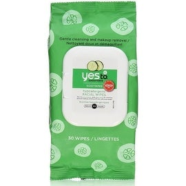 Yes to Cucumbers Soothing Hypoallergenic Facial Wipes (30 Each)