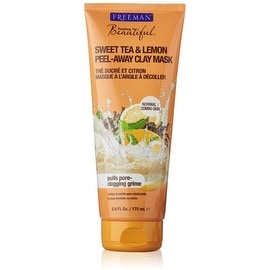Freeman Feeling Beautiful Peel-Away Clay Mask, Sweet Tea & Lemon 6 oz
