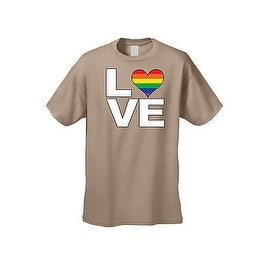UNISEX T-SHIRT LGBT RAINBOW HEART FLAG GAY LESBIAN LOVE PRIDE HOMOSEXUAL TEE