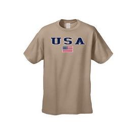 MEN'S T-SHIRT USA AMERICAN FLAG TEE PATRIOTIC STARS STRIPES RED WHITE BLUE S-5XL