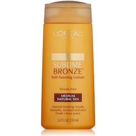 L'Oreal Paris Sublime Bronze Self-Tanning Lotion, Medium Natural Tan 5 oz