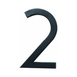 """HY-KO PRODUCTS CO FM-6/2 FLOATING MOUNT HOUSE NUMBER 6"""" BLACK # 2"""