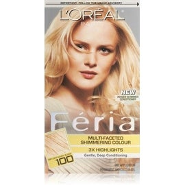 L'Oreal Paris Feria Multi-Faceted Shimmering Color, Very Light Natural Blonde [100] 1 ea