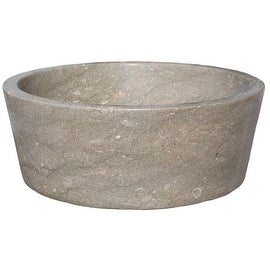 Tapered Natural Stone Vessel Sink - Sea Grass Marble