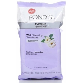 Pond's Wet Cleansing Towelettes, Evening Soothe, 30 ea
