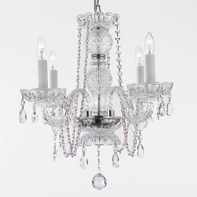 Crystal Chandelier Lighting With Pink Crystal Free Shipping Today Overstock Com