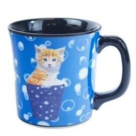 Keith Kimberlin Kitten in Blue Pot Mug