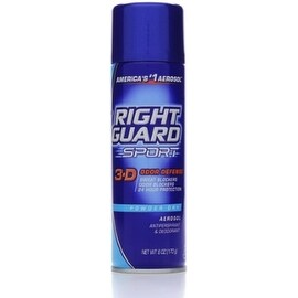 Right Guard Sport 3-D Odor Defense, Antiperspirant & Deodorant Aerosol, Powder Dry 6 oz