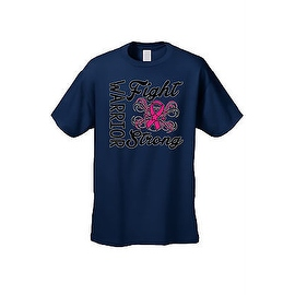 UNISEX T-SHIRT 'Warriors Fight Strong' BREAST CANCER AWARENESS PINK RIBBON
