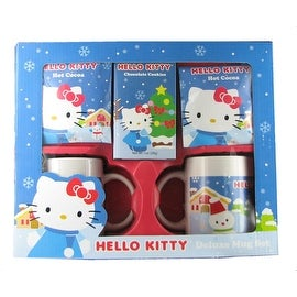 Hello Kitty Deluxe Mug Set with Cocoa and Cookies