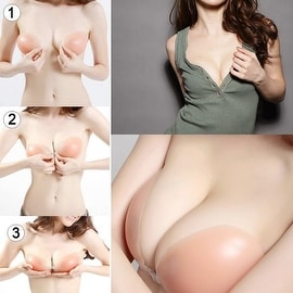 Silicone Stick On Gel Push Up Strapless Backless Invisible Adhesive Bras Breast Cover