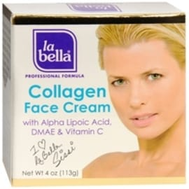 La Bella Collagen Face Cream with Alpha Lipoic Acid [Crema De Colageno] 4 oz