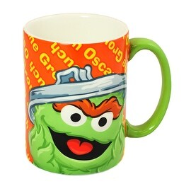 Gund Sesame Street Oscar the Grouch Ceramic Mug 12oz