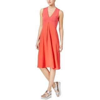 Rachel Roy Womens Mixed Media A-Line Dress
