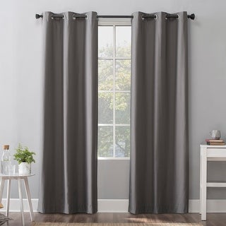 Sun Zero Cyrus Thermal 100% Total Blackout Grommet Curtain Panel