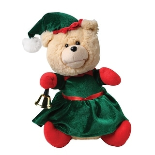 Nika International Ellie the Animated Christmas Bear - Stuffed Teddy Bear in Elf Costume Dances & Plays Holiday Music - - 12 in.
