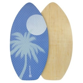 "Driftsun Sports 41"" Deluxe Wooden Skimboard, EVA traction Pad with Diamond Grip"