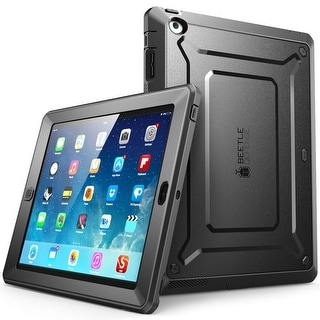 iPad 4 Case, SUPCASE,Unicorn Beetle PRO Series,Full-body Rugged Hybrid Protective Case Cover with Built-in Screen-Black/