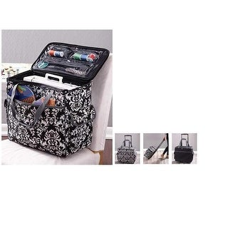 Sewing Accessories Rolling Sewing Machine Tote with 6 Storage Pockets - Damask