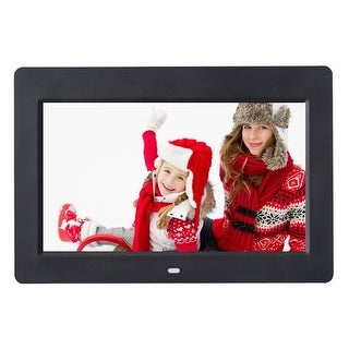 Costway 10'' IPS LCD Digital Photo Frame Calendar Clock Function MP3