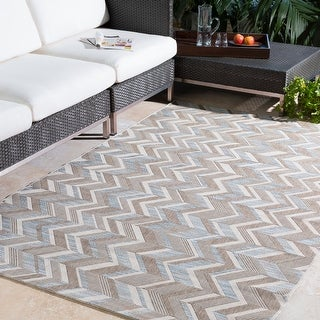 Dixie Zig-Zag Outdoor Area Rug
