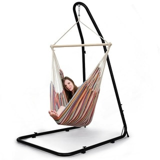 Costway Adjustable Hammock Chair Stand For Hammocks Swings & Hanging