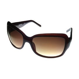 Kenneth Cole Reaction Womens Rectangle Brown Plastic Sunglass KC1055 K85