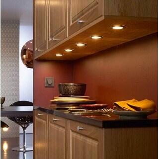 5pcs 2.5W LED Under Cabinet Lighting Kit, 3000K Warm White