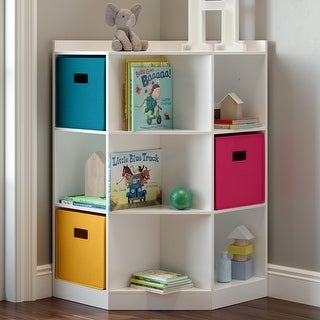 RiverRidge® Kids 6-Cubby, 3-Shelf Corner Cabinet
