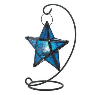 Antique Sapphire Star Table Lantern