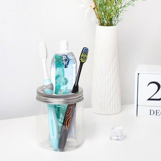 Stainless Steel Mason Jar Toothbrush Holder Lid for Wide Mouth Ball Mason Jar - 4pcs